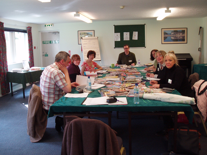Some of my 'victims' on a Relax & Write course (Photo credit: Lois Maddox)