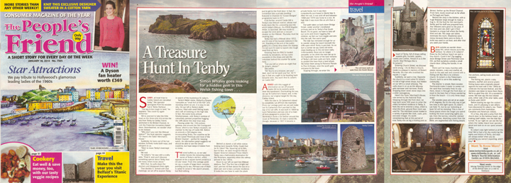 A Treasure Hunt in Tenby was published in The People's Friend