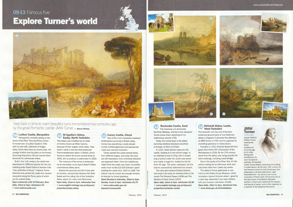 Explore Turner's World - published in BBC Countryfile magazine