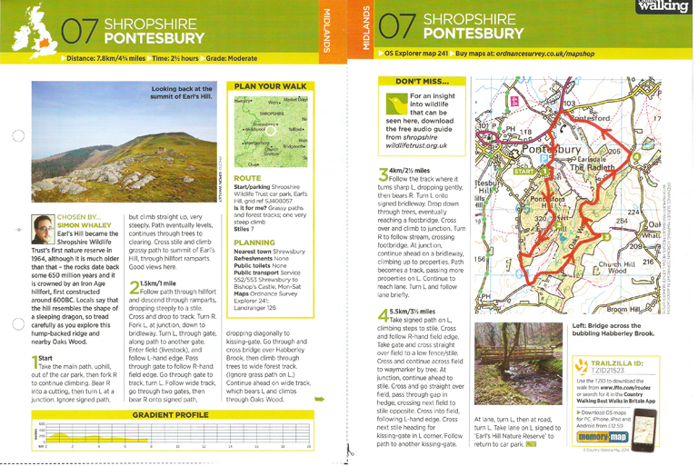 Pontesbury - COuntry Walking - May 2014