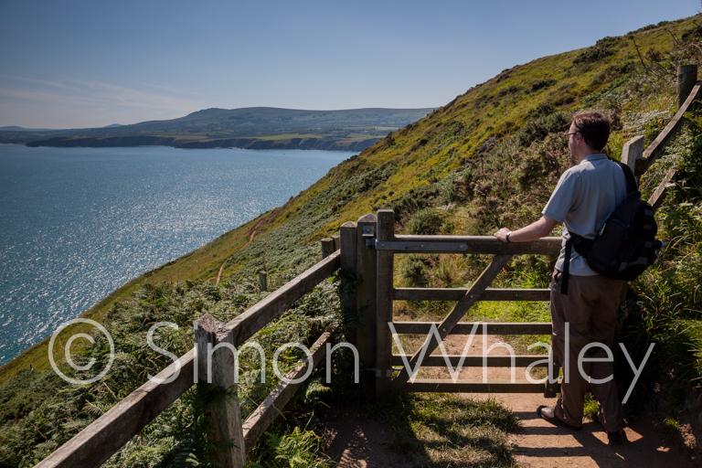 Gazing along the magnificent Welsh coastline