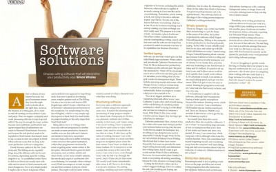 Writing Magazine – The Business of Writing – Software Solutions