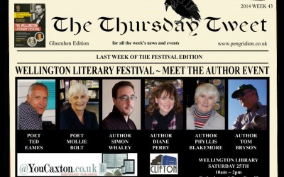Meet The Author at Wellington Literary Festival Library Event (25th October 2014)