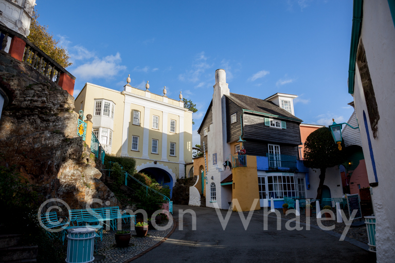 The Toll House and Bridge House at Portmeirion Village, near Por