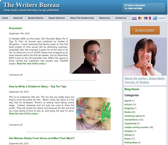 The Writers Bureau blog