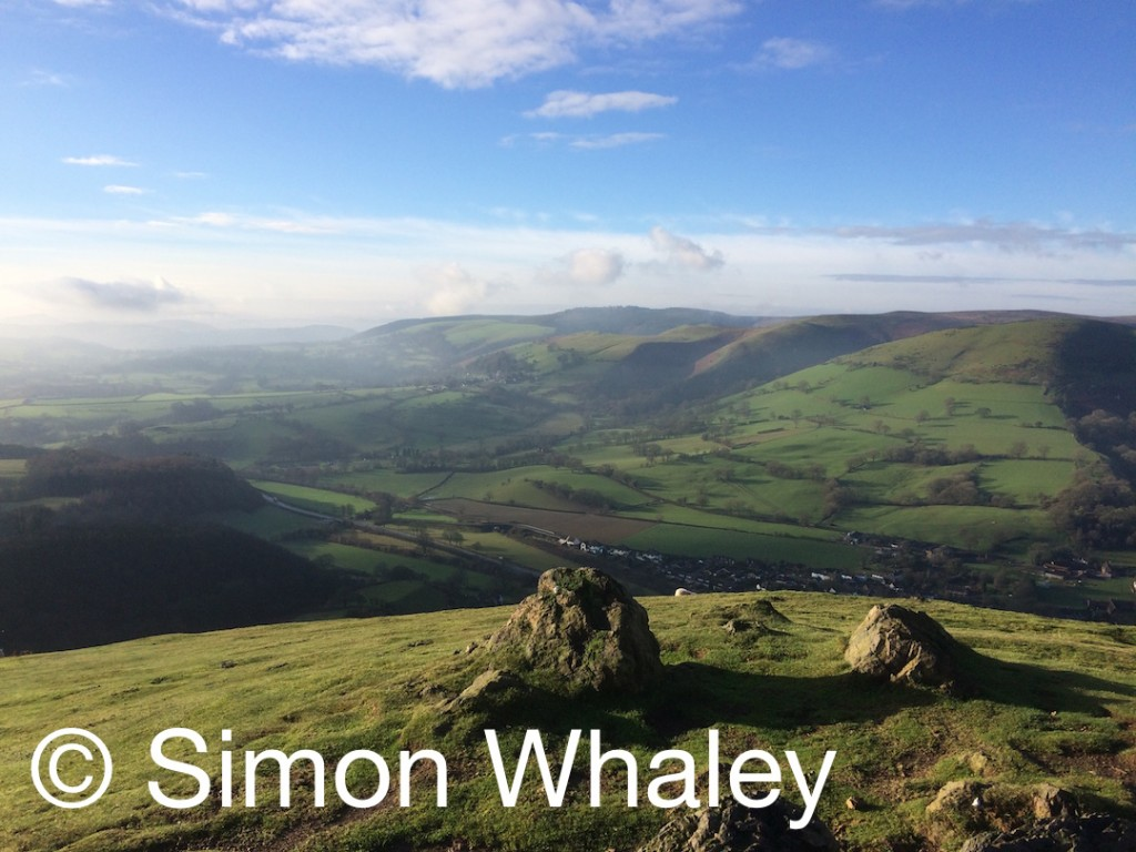 The Long Mynd seen from Ragleth Hill by Simon Whaley