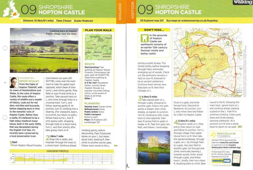 Hopton Castle - Country Walking - Spring 2016
