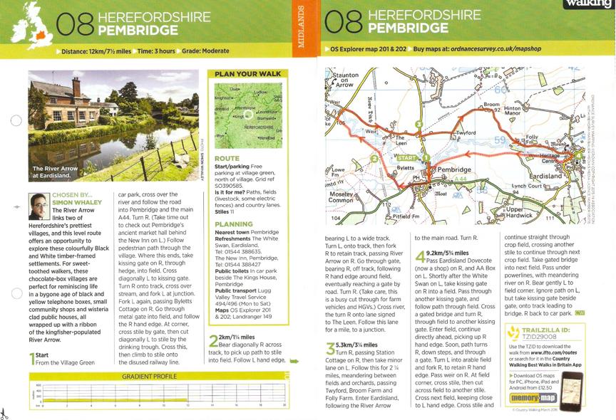 Pembridge - Country Walking - March 2016