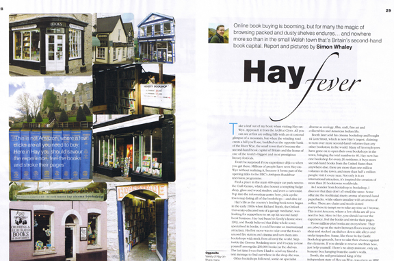 Hay Fever was published in Holiday Cottages magazine