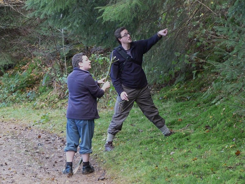 Simon and Bryan try out their outdoor clothing catalogue poses (Photo credit: Darren Bailey)