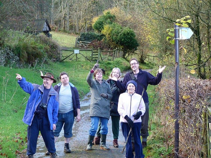 Simon and friends lost, looking for a signpost (Photo credit: Darren Bailey)