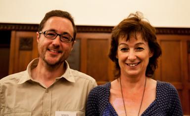 Della Galton and I at the Caerleon Writers Holiday