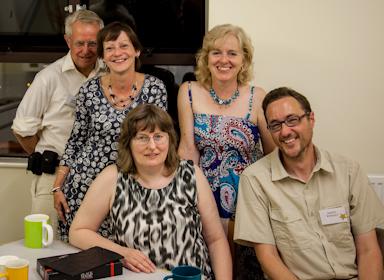 The best kitchen at Caerleon Writers' Holiday (Barry Adams, Christine Cherry, Helen Yendall, Katey Nixon and myself)