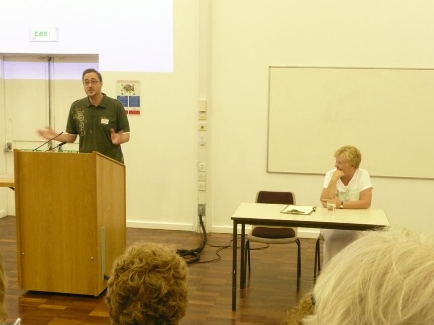 Simon lecturing at Caerleon (Photo credit: Susan Hanniford)