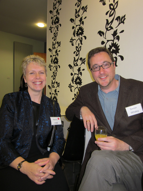 Simon with Penny Legg at the York Festival of Writing 2011 (Photo credit: Catherine Miller)