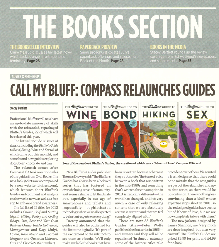 Call My Bluff: Compass Relaunches Guides - The Bookseller - 29th march 2013