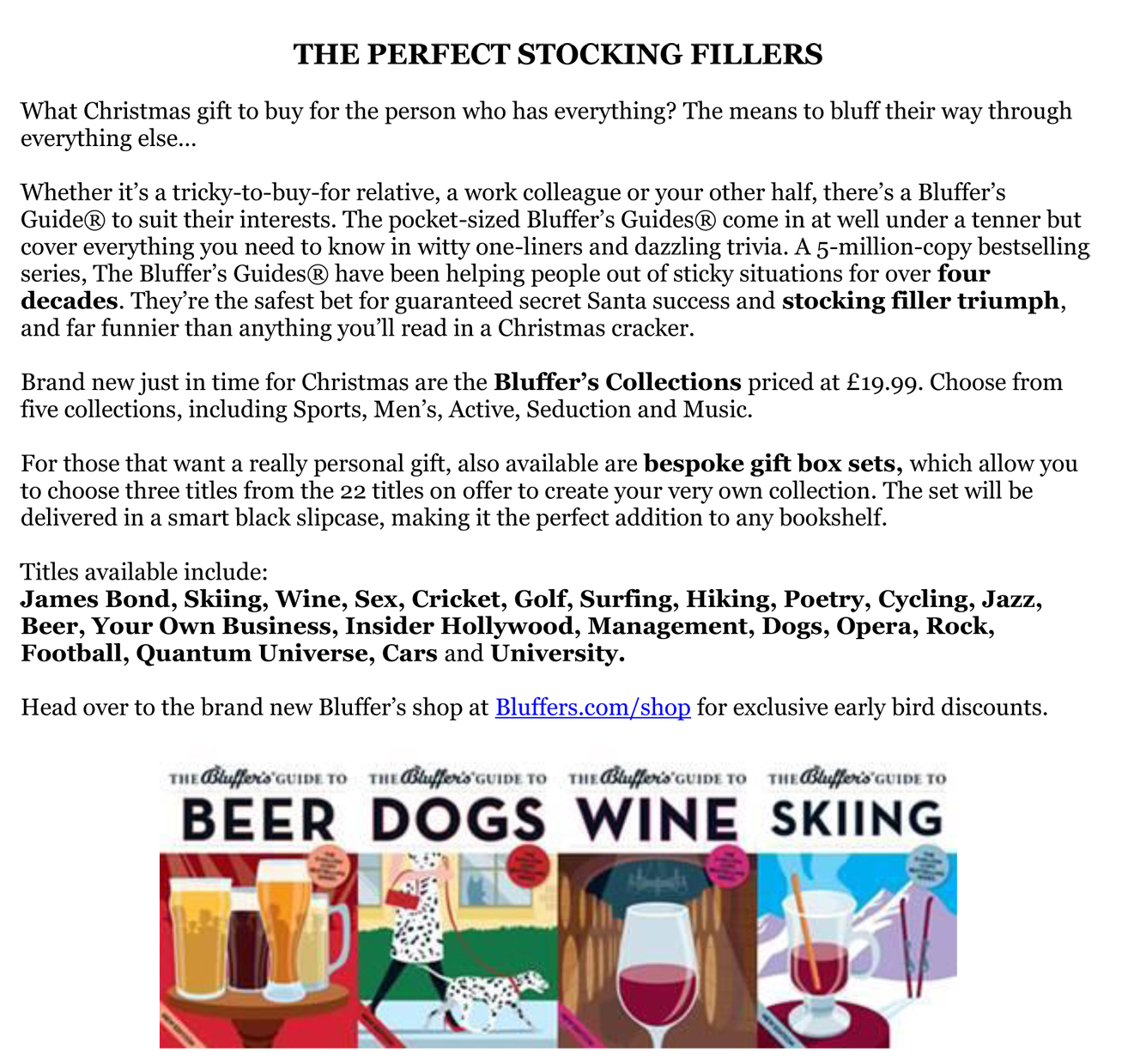 Bluffers Xmas Stocking Fillers1