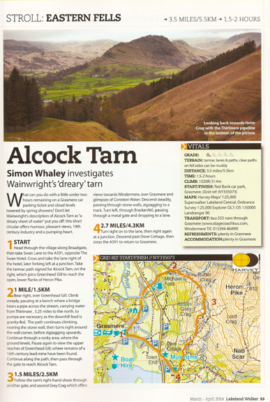 Alcock tarn was published in Lakeland Walker