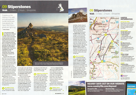 Stiperstones was published in BBC Countryfile