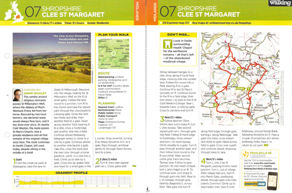 Clee St Margaret - Country Walking - June 2014