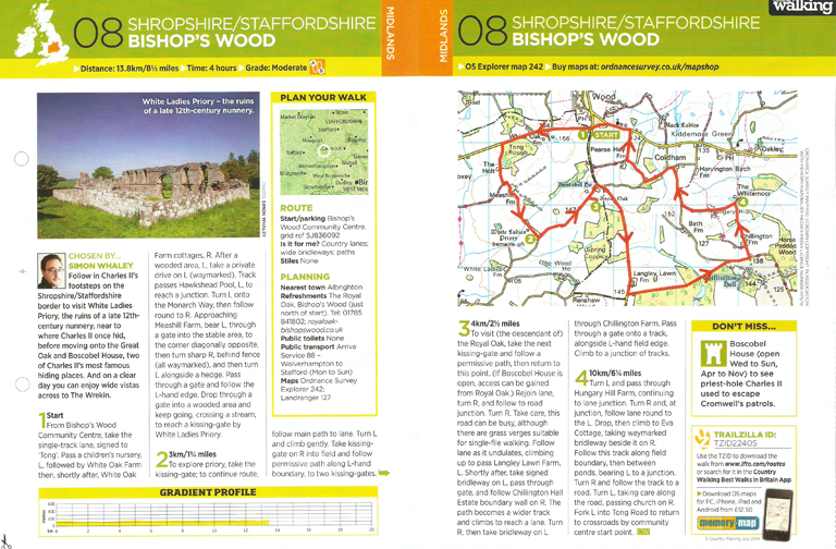 Bishop's Wood - published in the July 2014 issue of Country Walking