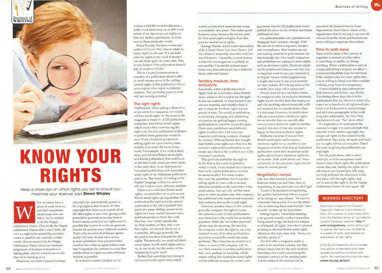 Know Your Rights - Writing Magazine - July 2014