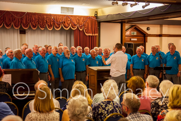 The Cwmbach Male Voice Choir at the Writers Holiday in Fishguard