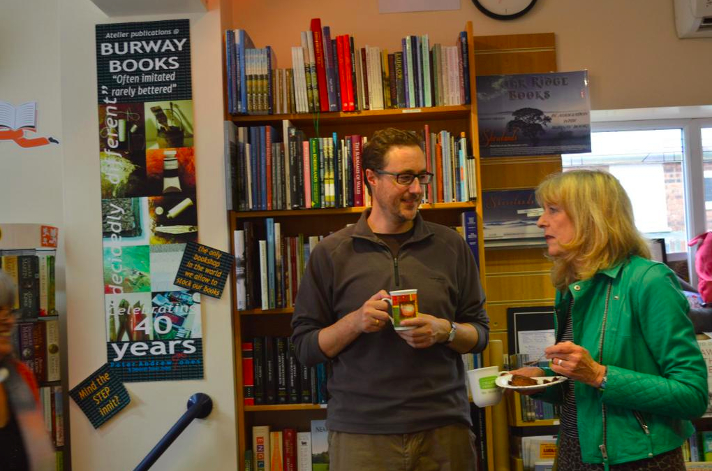 Chatting with Deborah Moggach at Burway Books' 40th Birthday Bash