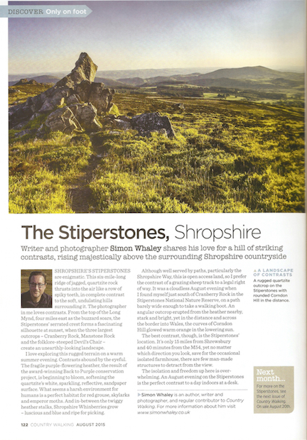 The Stiperstones - Only On Foot - CW - August 2015