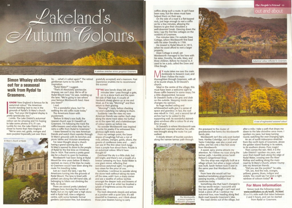 Lakeland's Autumnal Colours - published in The People's Friend Autumn Special 2015