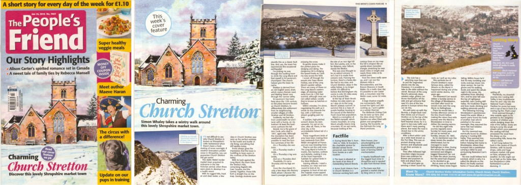 Charming Church Stretton - published in The People's Friend - 16th jan 2016 issue