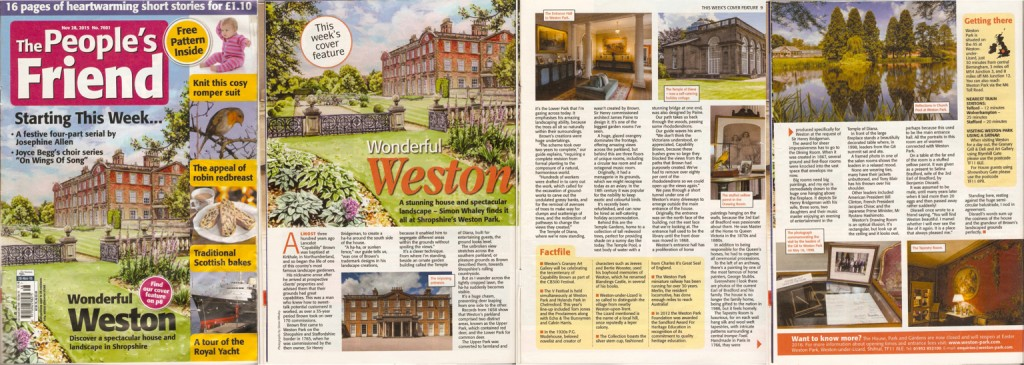 Wonderful Weston - published 28th November 2015 issue The People's Friend