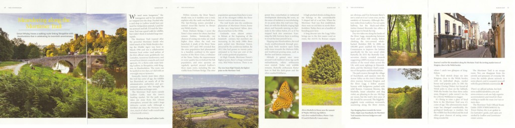 Meandering Along The Mortimer Trail - The Countryman - March 2016