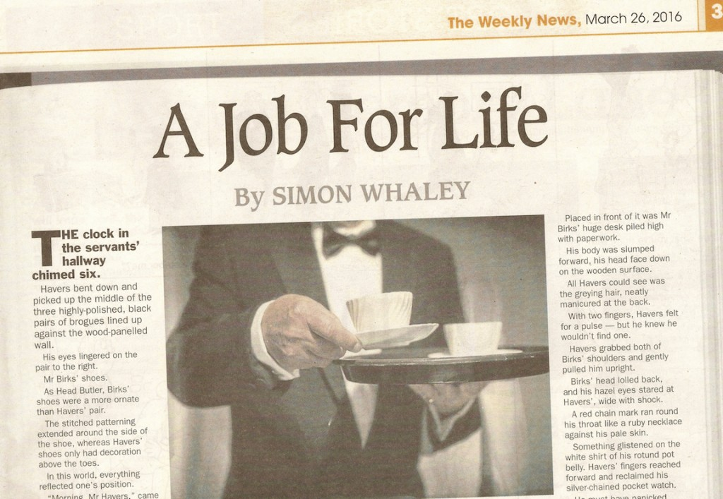 A Job For Life - the Weekly News - 26th March 2016