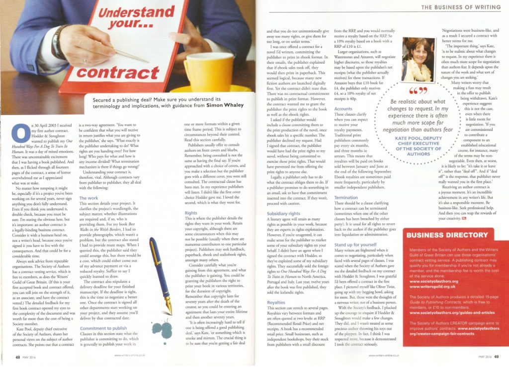 BoW - Understanding Your Contract - May 2016