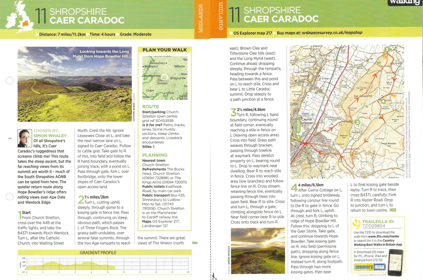 Caer Caradoc - Country Walking - May 2016