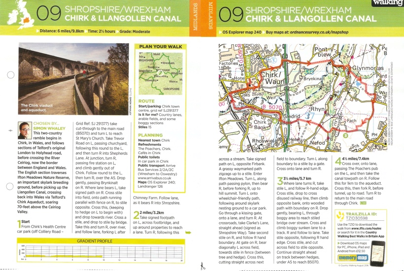 Chirk - Country Walking - August 2016