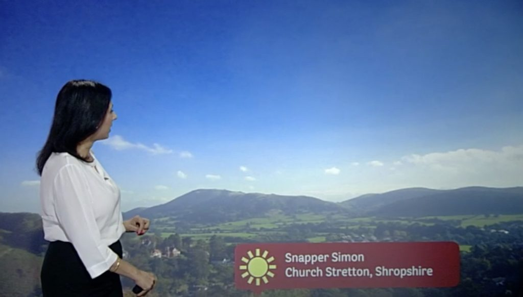 The Stretton Hills on the BBC Midlands Today lunchtime broadcast