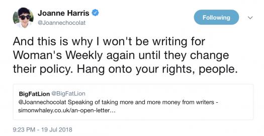 Joanne Harris Shares Letter